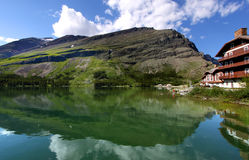 Swiftcurrent lake Stock Photography