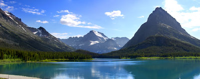 Swiftcurrent lake Stock Photo