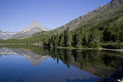 Swiftcurrent Lake Royalty Free Stock Images