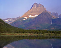Swiftcurrent Lake & Canoe Royalty Free Stock Photo
