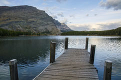 Swiftcurrent Lake Dock Stock Photography
