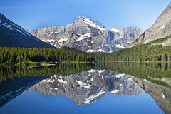 Swiftcurrent Lake in Glacier National Park Stock Image