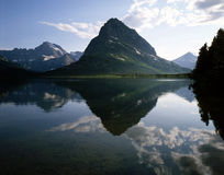 SWIFTCURRENT  LAKE, GLACIER NP Royalty Free Stock Photos