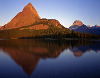 Swiftcurrent Lake Morning Royalty Free Stock Photos