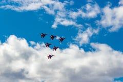 Swifts de salon de l'aéronautique Images stock