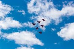Swifts de salon de l'aéronautique Photographie stock libre de droits
