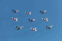 Swifts (Strizhi) and Russian Knights Royalty Free Stock Photos