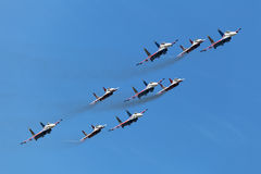 Swifts (Strizhi) and Russian Knights Stock Photo
