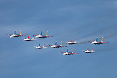 Swifts (Strizhi) and Russian Knights Stock Photos