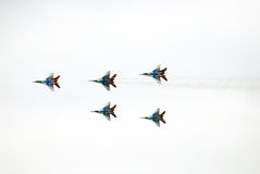 Swifts (Strizhy) at MAKS-2013 Stock Photography