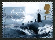 Swiftsure类水下英国邮票 库存照片