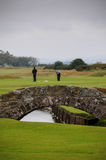 Swilcan bridge. The Swilcan Bridge, or Swilcan Burn Bridge, is a famous small stone bridge in St Andrews golf course Royalty Free Stock Photography
