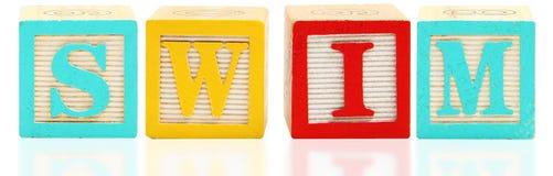 swim блоков алфавита стоковая фотография rf