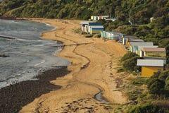 swim кабин пляжа Стоковое Изображение RF