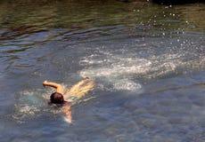 Swim. A woman swimming Royalty Free Stock Image