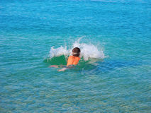 Swim in the Adriatic Sea. Royalty Free Stock Images