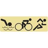 Swim Bike Run Stock Photo