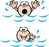 Swim cant swim Stock Photo