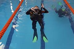 Swim coach Stock Photos