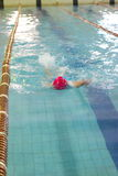 Swim crawl stroke. A swim teen girl swimmer in the competition Stock Images