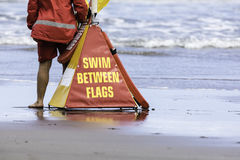 Swim Between Flags Royalty Free Stock Photo
