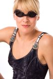Swim glasses portrait Royalty Free Stock Photography
