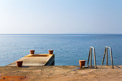 Swim jetty Stock Photo
