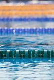 Swim lanes in olympic swimming pool Royalty Free Stock Image