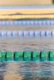Swim lanes in swimming pool Royalty Free Stock Photography