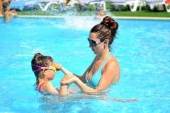 Swim lesson Royalty Free Stock Photo