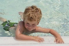 Swim Lessons learning to kick royalty free stock image