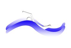 Swim Logo. Illustration with man swimming and waves Stock Photography