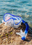 Swim mask and snorkel Royalty Free Stock Image