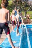 Swim meet Stock Images