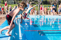 Swim meet Stock Image