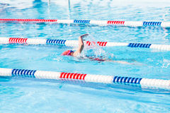 Swim meet Royalty Free Stock Photo