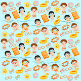 Swim party background. Kids at a swim party background Stock Image