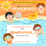 Swim party invitation Royalty Free Stock Images