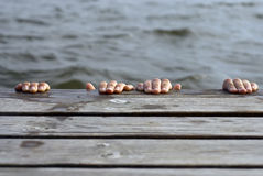 Swim platform Stock Image
