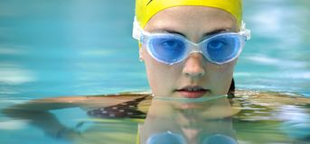 Swim portrait Stock Photos