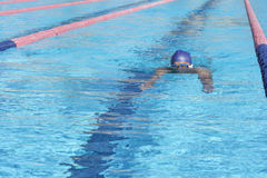 Swimming. Swim and recreation, man in swimming pool Royalty Free Stock Photos