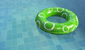 Swim Ring in Pool. Rubber swim ring in a swimming pool Stock Photography