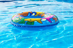 Swim Ring in a Swimming Pool Royalty Free Stock Images