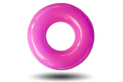 The swim ring. The swim ring was derived from the inner tube, the inner, enclosed, inflatable part of older vehicle tires Royalty Free Stock Image