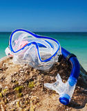Swim snorkel and mask for diving Royalty Free Stock Photo