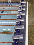 Swim starting blocks Stock Image