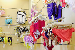 Swim suits department Royalty Free Stock Photos