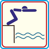 Swim symbol for download. Vector icons print projects. Swim symbol for download. Vector icons print Royalty Free Illustration