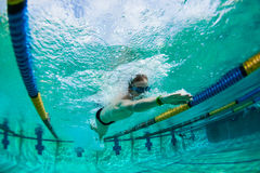 Swim Teenager Underwater Photo Royalty Free Stock Images
