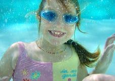 Swim underwater royalty free stock images